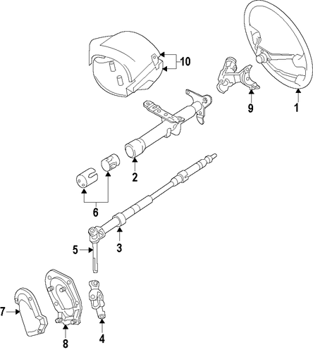 genuine oem steering column parts for 1998 toyota camry le