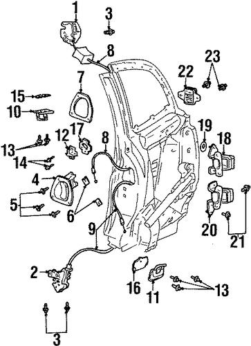 Door Parts For 2001 Saturn Sc2