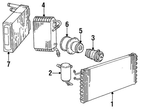 3036687 evaporator core for 1985 chevrolet k5 blazer
