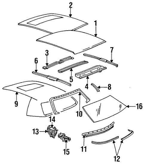 roof  u0026 components for 1994 cadillac fleetwood