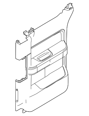 2010 Ford F-150 Door Trim Panel 9L3Z-1827407-BA