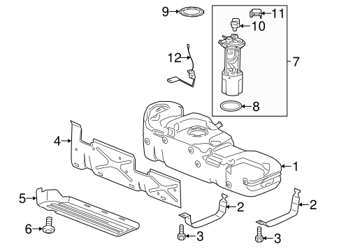 03 Silverado Fuel Tank Pressure Sensor on honda parts diagram