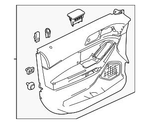 2012 Ford Explorer Door Trim Panel BB5Z-7823943-CA