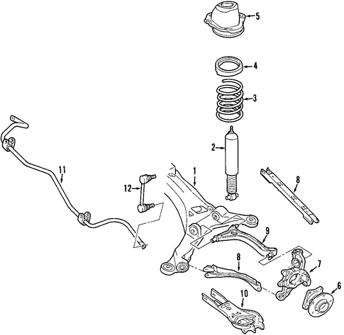 Cafdf B Cb Daf A Ecdcf F on 2005 Ford Five Hundred Rear Suspension Parts