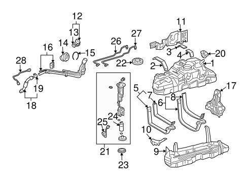 fuel system components for 2006 lexus gx470