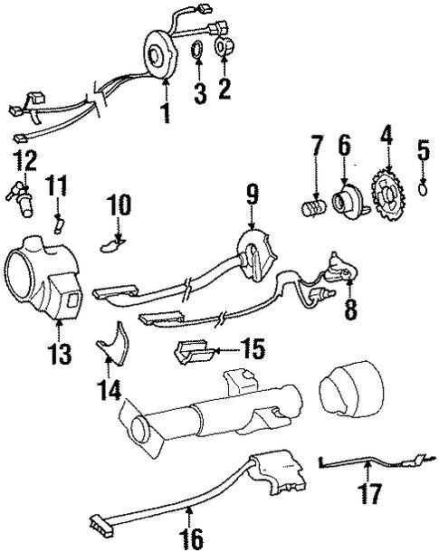 shroud  switches  u0026 levers for 1997 chevrolet lumina