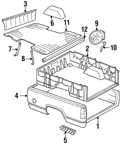 box assembly for 1991 chevrolet k1500 pickup