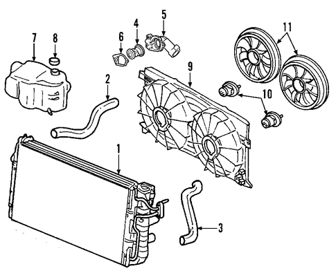 OEM    COOLING    SYSTEM for 2008    Chevrolet    Equinox   GMPartsCenter