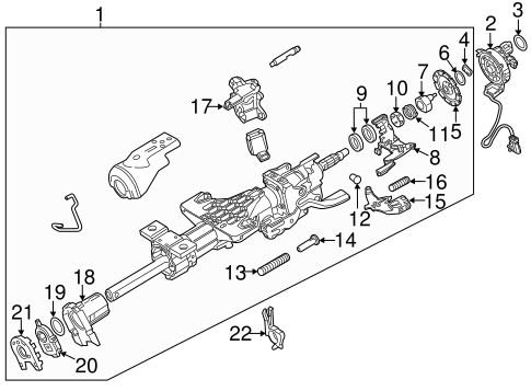 Steering Column Assembly Scat on hummer h3t engine
