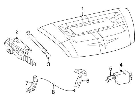 lid components for 2005 chrysler crossfire. Black Bedroom Furniture Sets. Home Design Ideas