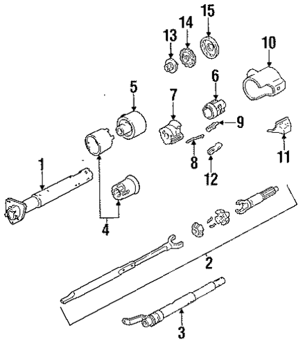 steering column assembly for 1993 gmc sonoma  base