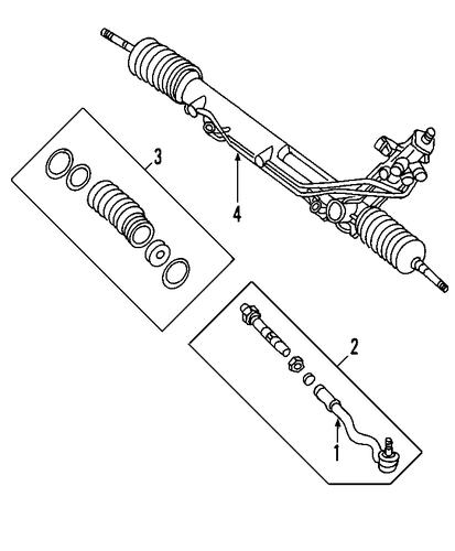 steering gear  u0026 linkage for 2005 bmw 530i