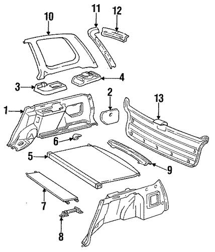 Interior Trim Rear Body For 1995 Toyota Corolla