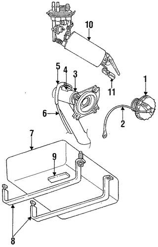 fuel system components for 1997 dodge neon