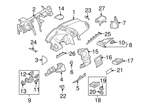 Mazda 6 Engine Cover on infiniti qx56 parts diagram