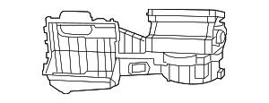 2011 Jeep Wrangler Blower Case 68089569AA