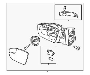 2013-2015 Ford Escape Mirror Assy CJ5Z-17682-EA