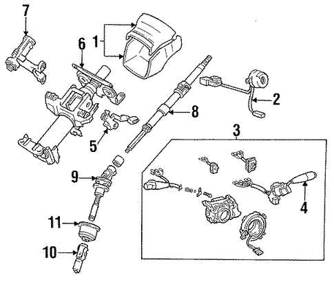 genuine oem switches parts for 1993 toyota camry le