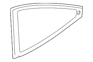 2000-2007 Ford Focus Qtr Glass 6S4Z-6129710-A