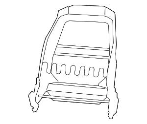 2007-2009 Dodge Nitro Seat Back Frame 68004631AA