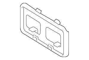 2011-2015 Ford F-250 Super Duty License Bracket BC3Z-17A385-AA