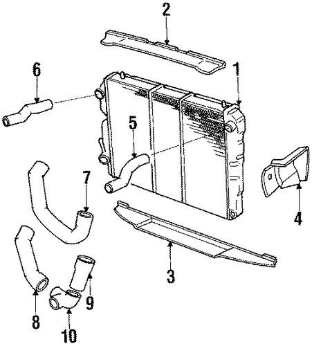radiator for 1987 jaguar xjs