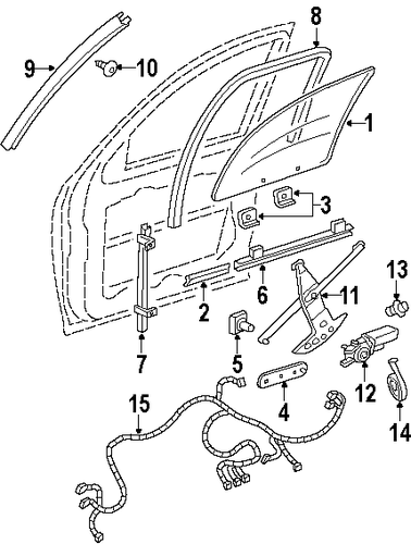 wire harness for 1998 oldsmobile silhouette 15320668