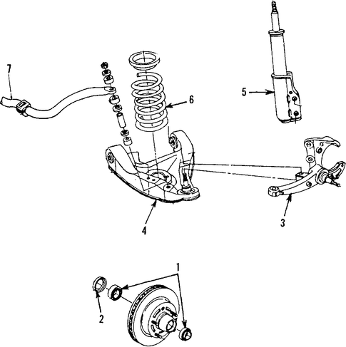 FRONT SUSPENSION/SUSPENSION COMPONENTS for 1992 Chevrolet Camaro #2