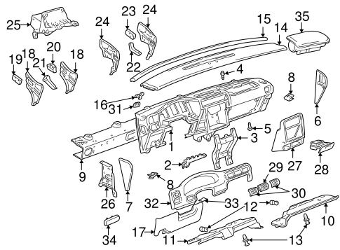 Diagram Of 1969 350 V8 Buick Engine Vacuum Hoses also S230151 as well Buick Lesabre Instrument Panel furthermore Dorman Oe Solutions 264 104 264104 Chevrolet Parts as well RepairGuideContent. on 1980 buick skylark