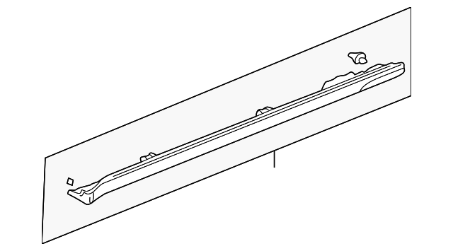 1999 Honda CIVIC SEDAN LX GARNISH ASSY., R. SIDE SILL - (71800S04003)