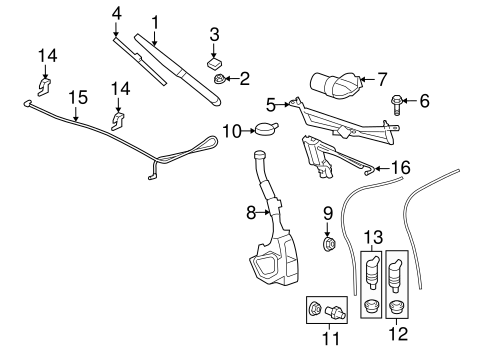 Parts For 2008 Saturn Vue Wiper Motor