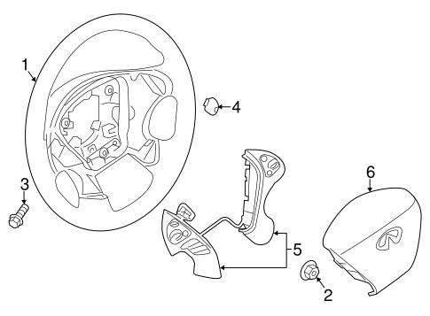 steering wheel  u0026 trim for 2015 infiniti qx60