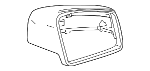 2012 2013 Mercedes-Benz E350 Mirror Cover 212-810-08-64-7786