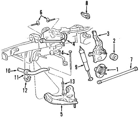Front Suspension Scat on 2002 mustang parts diagram