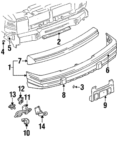 bumper cover support bracket for 1997 jeep grand cherokee. Black Bedroom Furniture Sets. Home Design Ideas