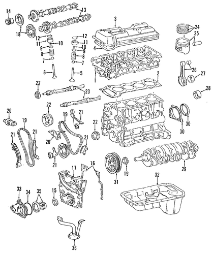 Genuine Oem Engine Parts For 1995 Toyota Tacoma Base