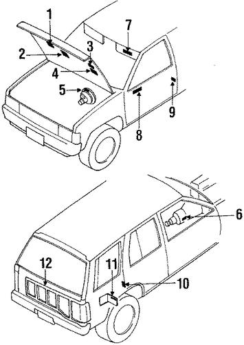 parts com nissan pathfinder labels oem  nissan  auto