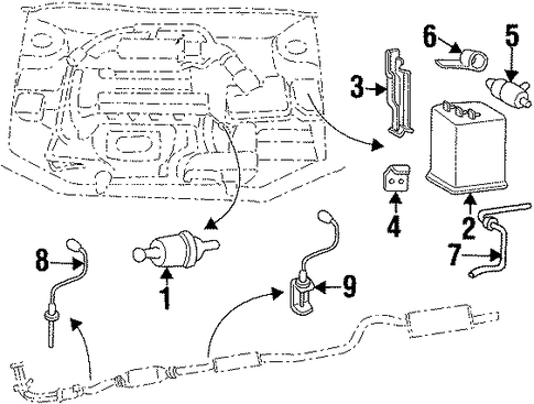 EMISSION SYSTEM/EMISSION COMPONENTS for 2000 Hyundai Elantra #1