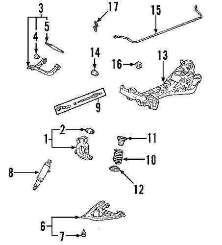 rear suspension for 2001 pontiac aztek  gt