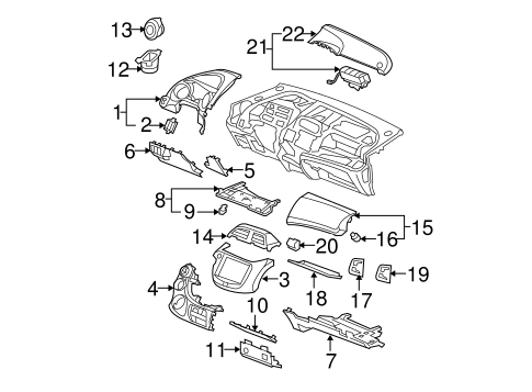 HOLDER - Honda (77512-TF0-003)