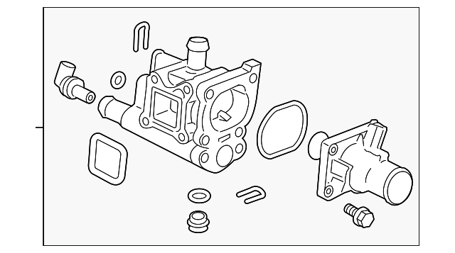 chevy aveo thermostat housing diagram