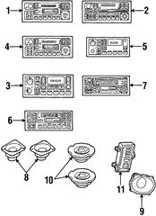 1997-1999 Chrysler Cirrus Radio 4858558AD