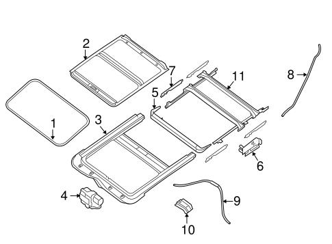 Nissan Altima Sunroof Glass