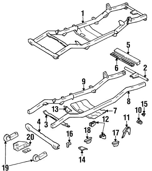 frame  u0026 components for 1990 jeep wrangler