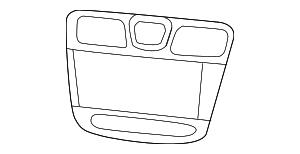 2011-2014 Chrysler 200 Center Bezel 1XX451X8AB