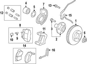 2010-2012 Ford Escape Brake Pads AL8Z-2001-A