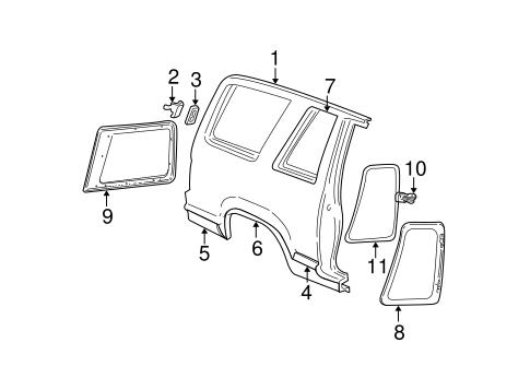 Body glass hardware for 1999 ford explorer 1 for 1999 ford explorer rear window hinge