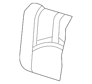 2009 Mercury Mariner Seat Back Cover 8E6Z-7866600-AA