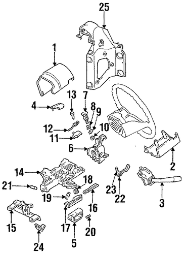 Steering Column Components For 1993 Ford F