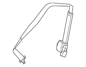 2013-2015 Mercedes-Benz GL350 Center Seat Belt 166-860-06-85-7F03